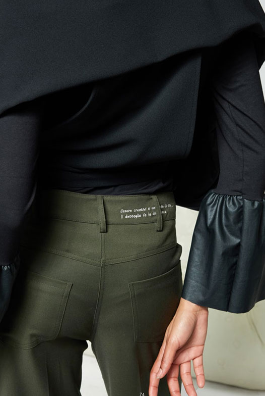 Numero-Primo-pantaloni-donna-verde-1